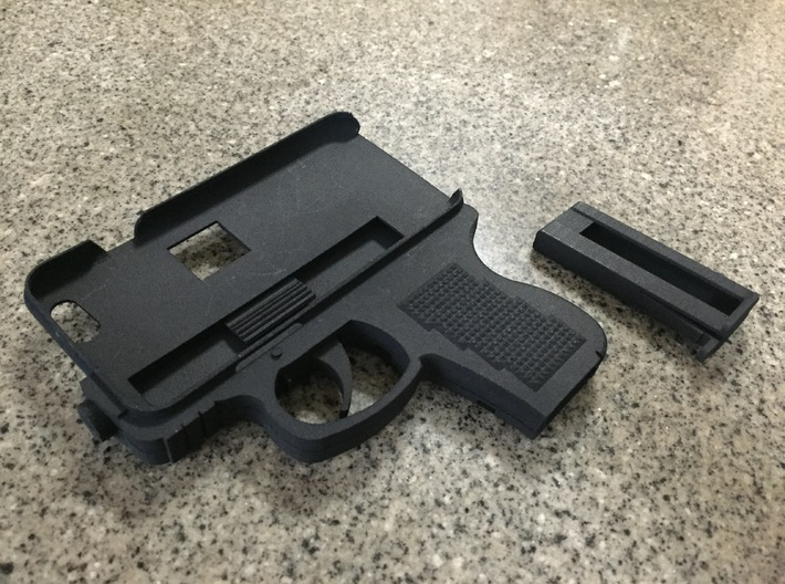 iPhone 6 Gun Case 3d printed Case and magazine