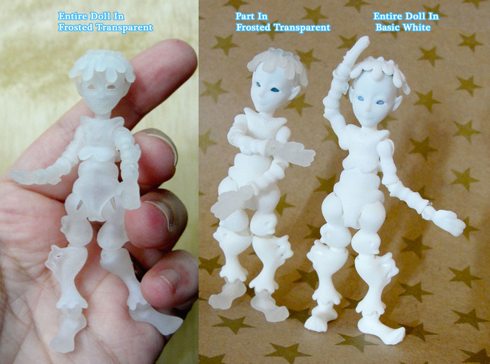 Iceling Fairy BJD tiny Doll 3d printed