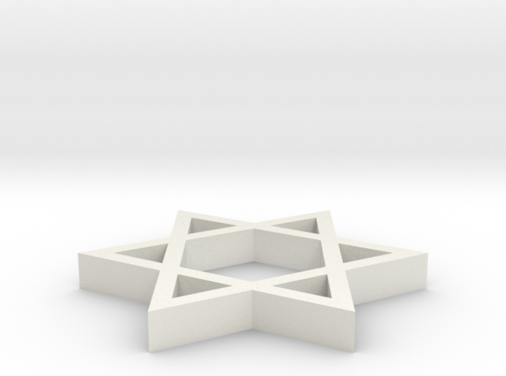 A simple Davids star emblem (Magen David 3d printed