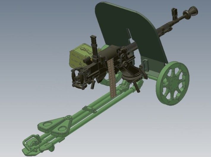 1-24 DSHK Dushka Wheeled Carriage 3d printed