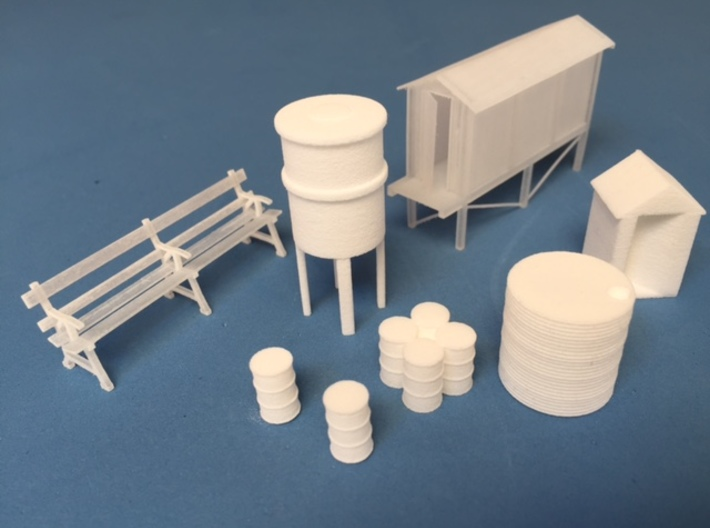Outhouse (HO) 3d printed A collection of some of the other models available in the madasu range