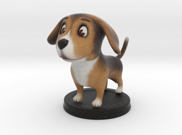 Puppies Out Beagle 3d printed Puppies Out - Beagle - Full Color Sandstone