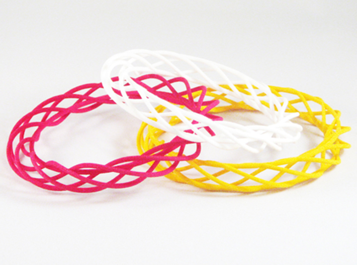 Twist Bangle A02M 3d printed