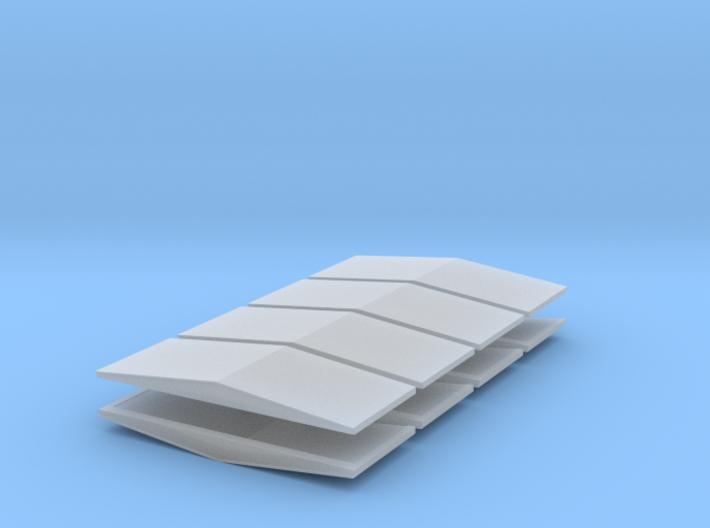 #5a V2 Ballast Car End Roofs 3d printed
