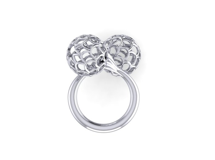 Bloom Ring (Size 8) 3d printed