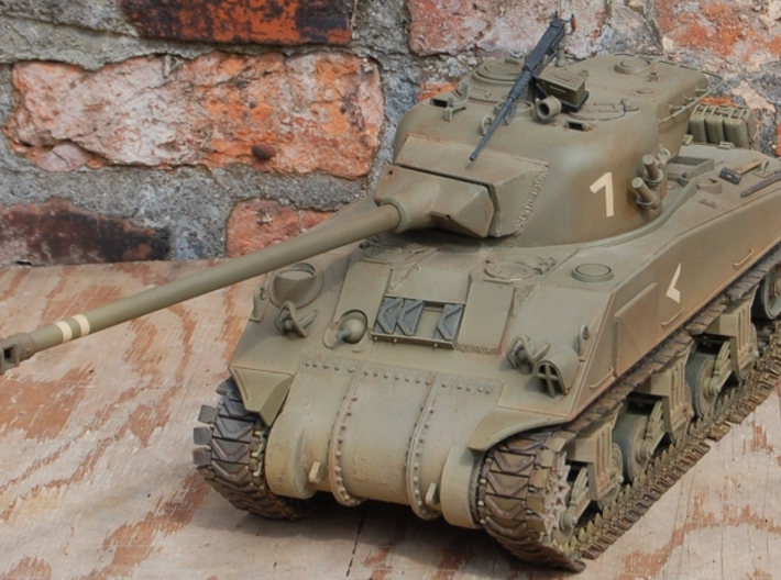 1/16 M50 Super Sherman Muzzlebrake 3d printed This is a photo of one on my M50.