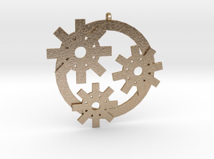 Gear-pendant 3d printed