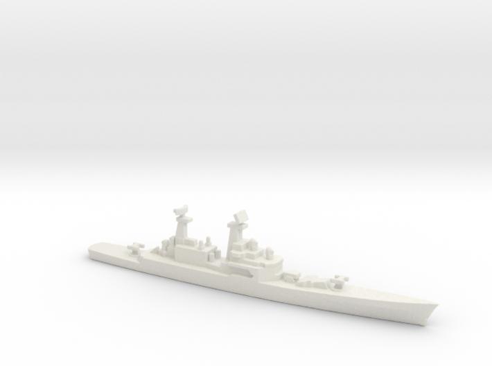 USS CGN-25 Bainbridge, 1990 layout, 1/2400 3d printed