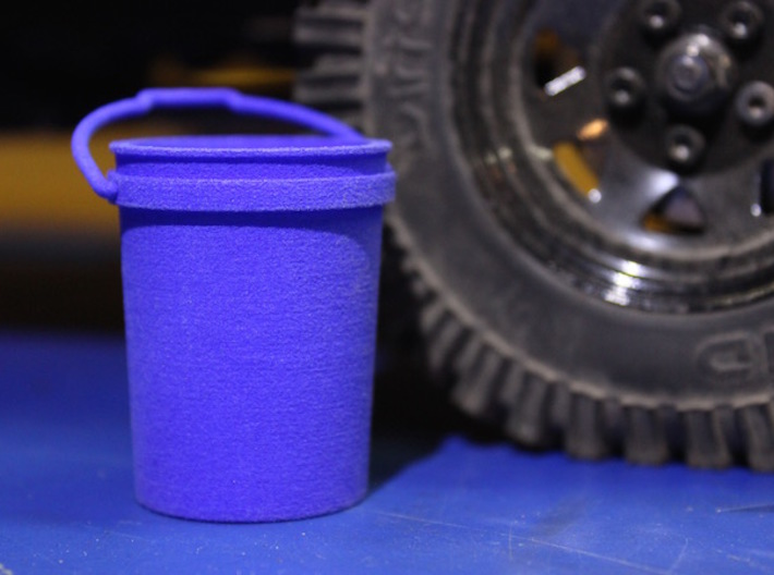 Shop Bucket 1:10 Scale 3d printed Finished product with scale vehicle.