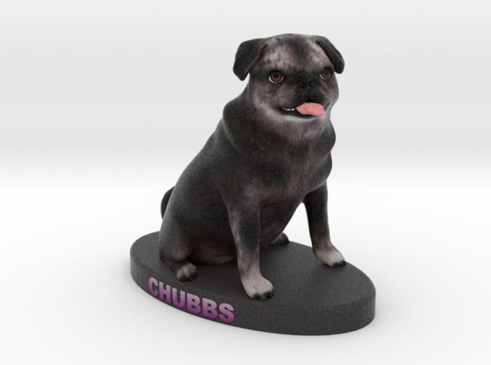 Custom Dog Figurine - Chubbs 3d printed