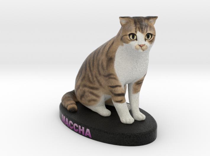 Custom Cat Figurine - Maccha 3d printed