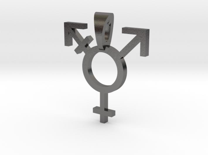Transgender Pride Symbol Pendant 3d printed
