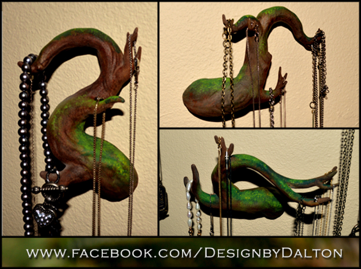 Tree Branch Wall Art - 02 3d printed Hand painted White Strong and Flexible, Full set available.