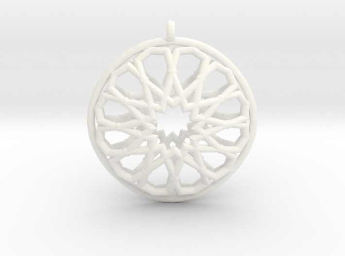 Islamic Inspired 3D Pendant 3d printed