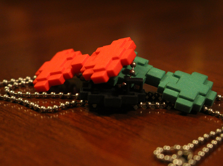 "8-bit Bowtie Necklace 3d printed A ""tie"" for every occasion"