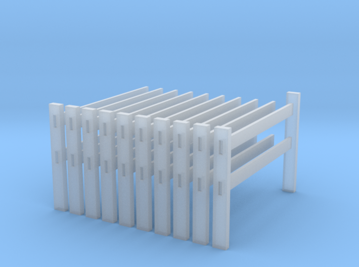 Post and rail fence kit N scale 10 piece 3d printed