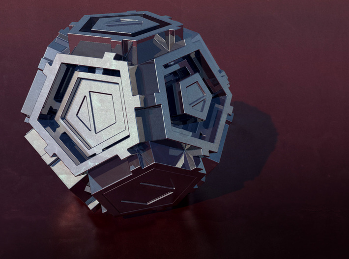 The Ovolic 3d printed Unusual 12-sided die