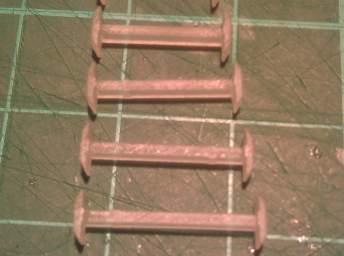 N Scale 11mm Fixed Coupling Drawbar x6 3d printed Range of Couplings - 9mm to 14mm