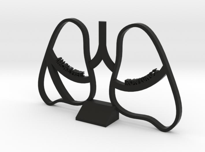 Smoke Free Lungs - Quitting Smoking Trophy 3d printed