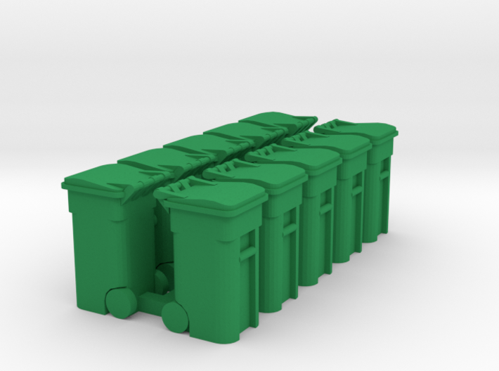 Trash Cart 64 gal - HO 87:1 Scale Qty (10) 3d printed