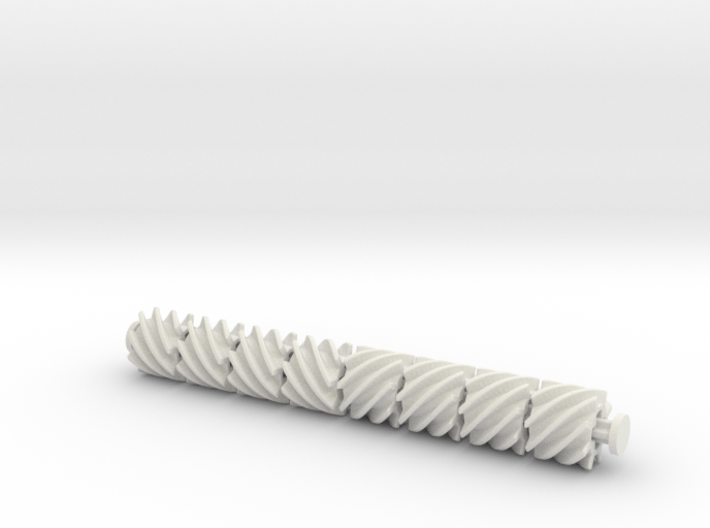 Helical 8tooth 3d printed