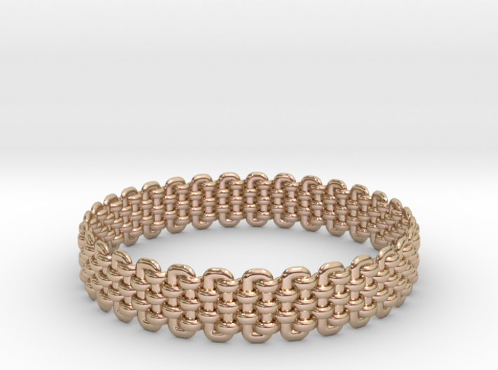 Wicker Pattern Bracelet Size 1 3d printed