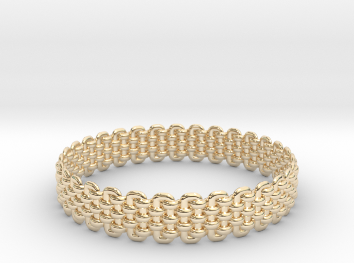 Wicker Pattern Bracelet Size 2 3d printed