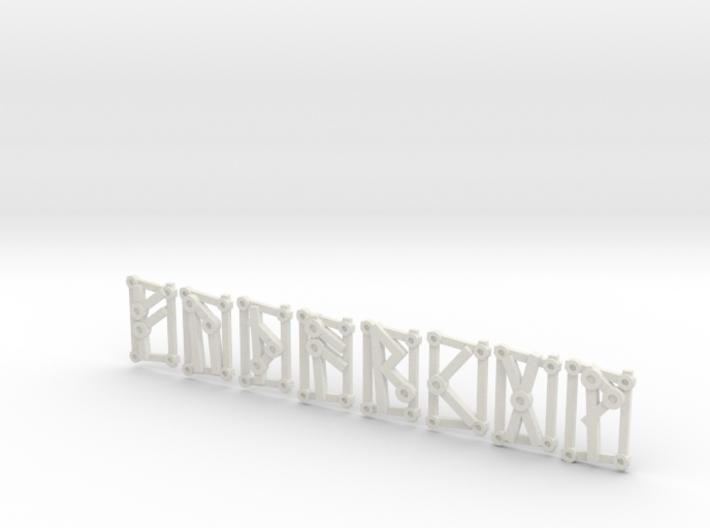 Small Aett 1 - Futhark Runes - 8 of 24 3d printed