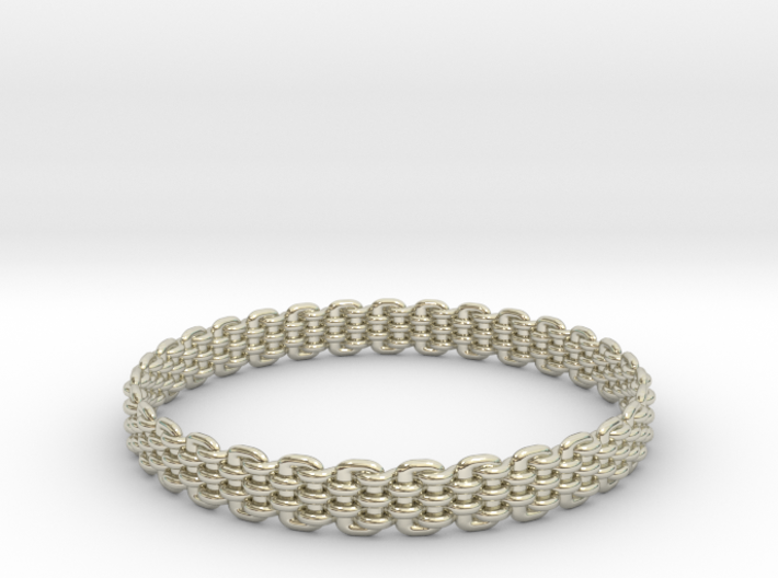 Wicker Pattern Bracelet Size 13 or USA X-Large 3d printed