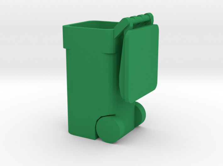 Trash Cart Open - 'O' 48:1 Scale 3d printed
