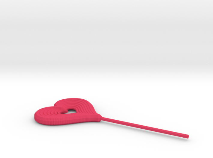 Heart Stick Pin Post 3d printed