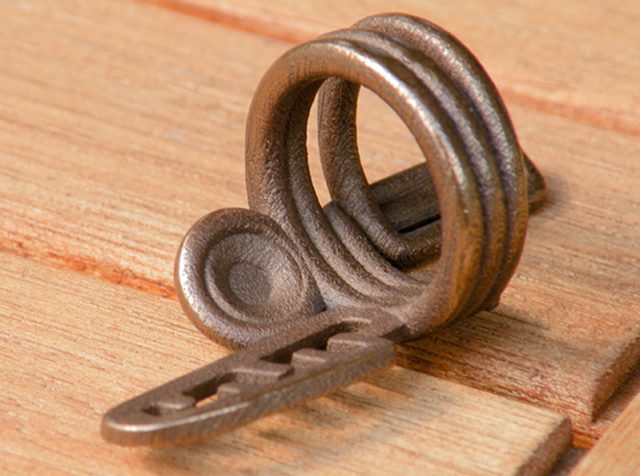 Balem's Ring3 - US-Size 12 (21.49 mm) 3d printed Ring 3 in polished bronze steel (shown: size 10)