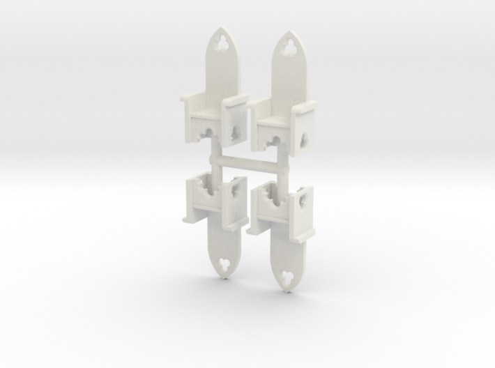 Chair set -Gothic style. Set of four 3d printed