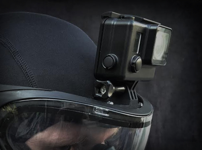 Paintball Mask Mount for GoPro Cameras 3d printed