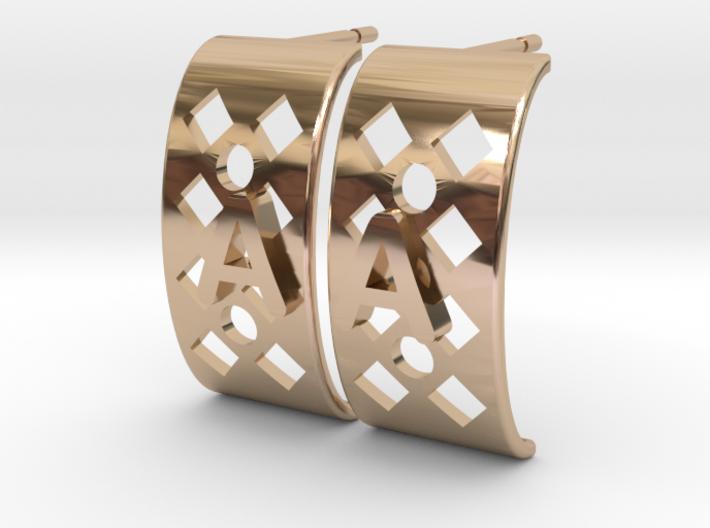 Boucles d'oreille Alice 10mm 3d printed