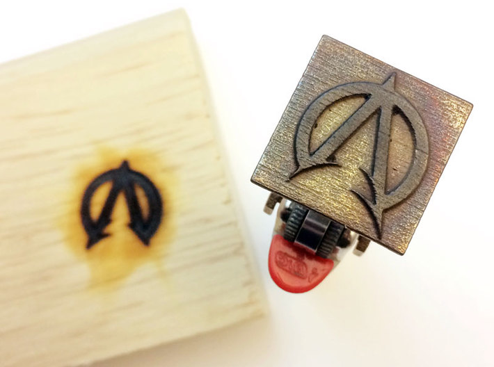 "Bic Lighter Branding Iron - 1 1/4"" X 3/4"" 3d printed Image on Square Base"