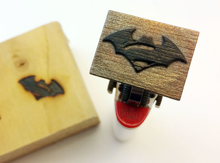 "Bic Lighter Branding Iron - 1 1/4"" X 3/4"" 3d printed Image on Rectangular Base"