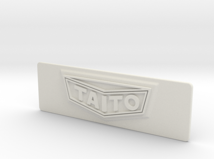 """Taito """"Classic"""" styled Coin Door Tag 3d printed"""