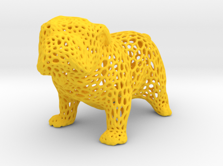 Bulldog Voronoi 45mm 3d printed