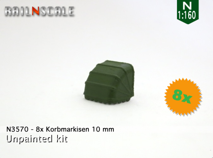 8x Korbmarkise 10 mm (N 1:160) 3d printed