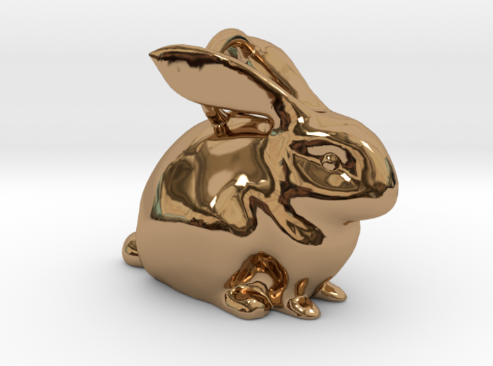 Bunny Pendant 3d printed