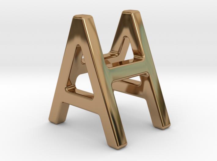 AH HA - Two way letter pendant 3d printed