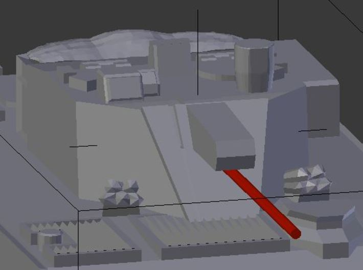 1/300 South Korean K-21 IFV x5 3d printed  materialmaterThe gun should be modeled with a 7 mm long wire