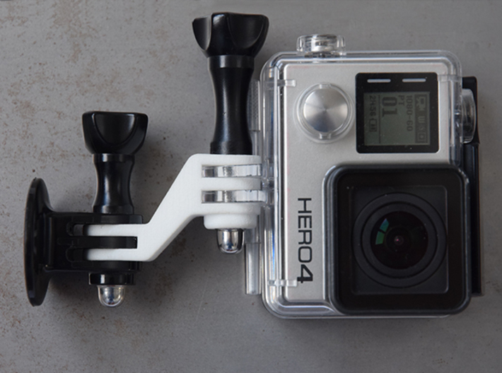 GoPro lens center mount 3d printed