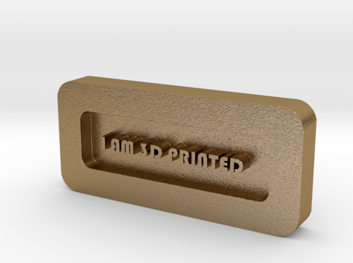Paper Weight - I AM 3D PRINTED 3d printed