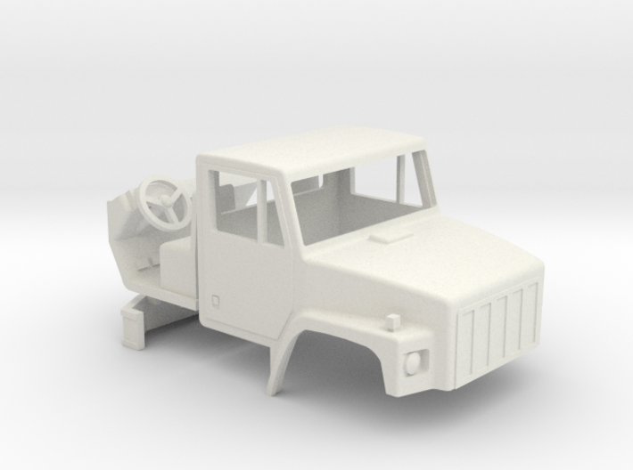 1/64 scale International 2574 Truck cab with inter 3d printed