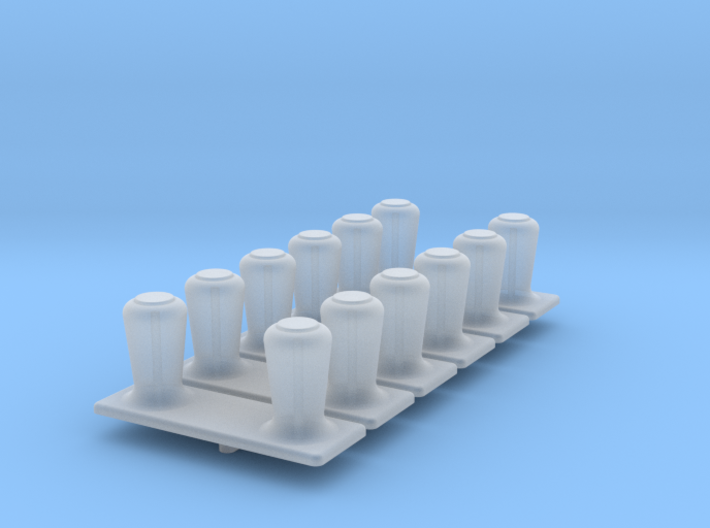 6 x Large Vent Bollards 1/96 3d printed