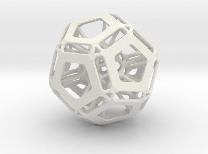 Dodecahedron (Inspired by nature) 3d printed