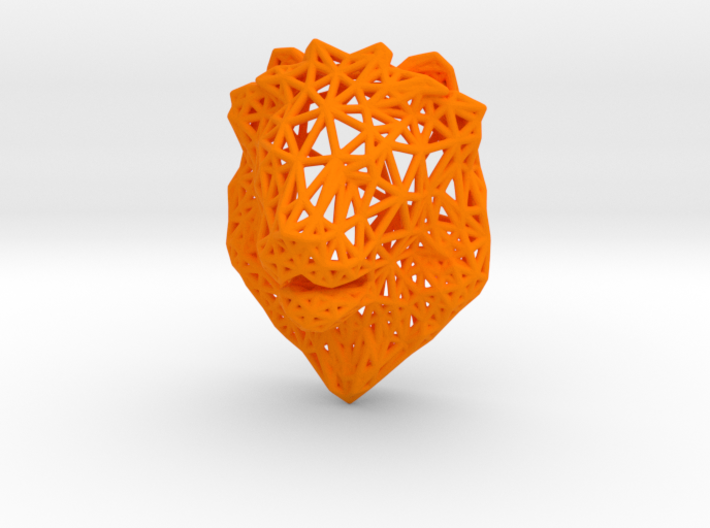 Lion Trophy Wireframe 80mm 3d printed