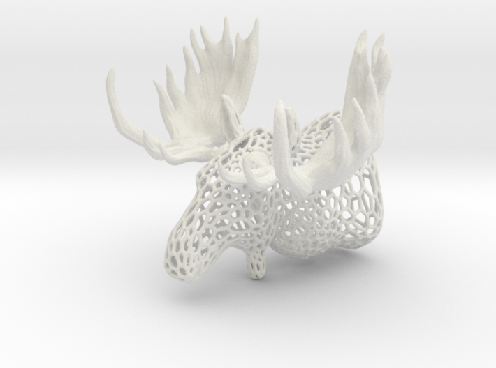 Moose Trophy Voronoi 100mm 3d printed